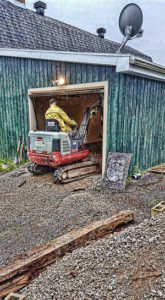 Excavation en espace restreint dans un garage