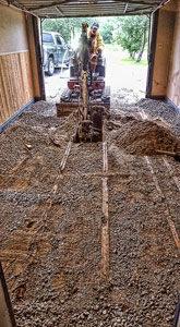 Excavation en espace restreint - vue de l'intérieur